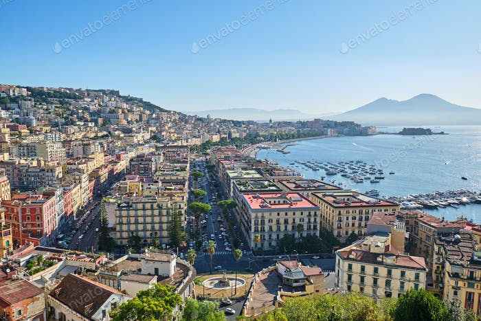 Naples in Italy early in the morning