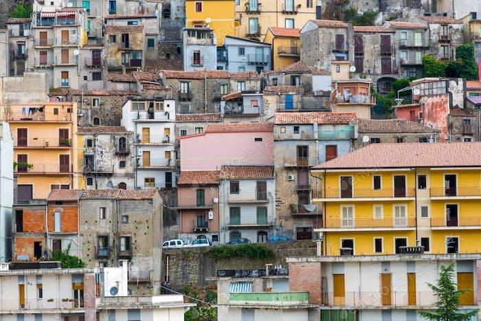 Detail of Castiglione di Sicilia, Italy