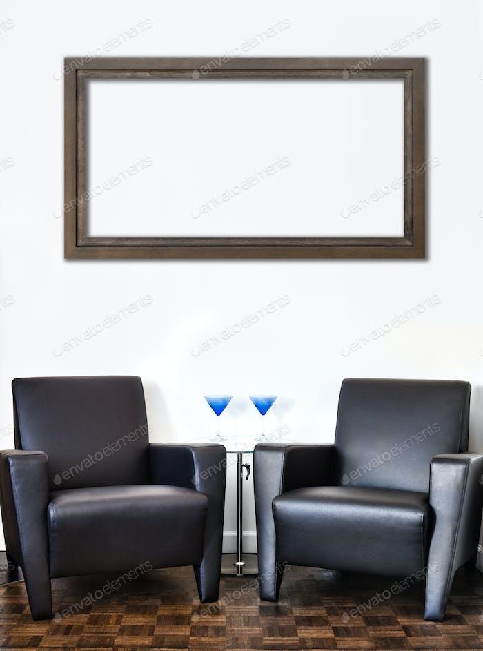 Modernes Interieur Zimmer und weiße Wand