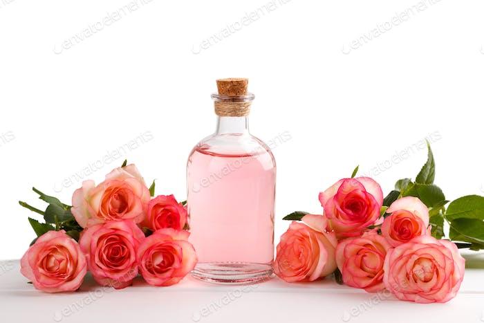 Pink rose essential oil