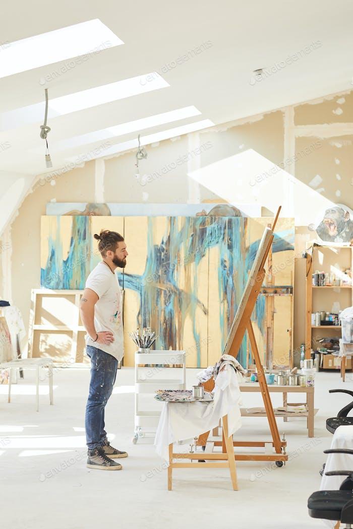 Male Artist in Spacious Studio
