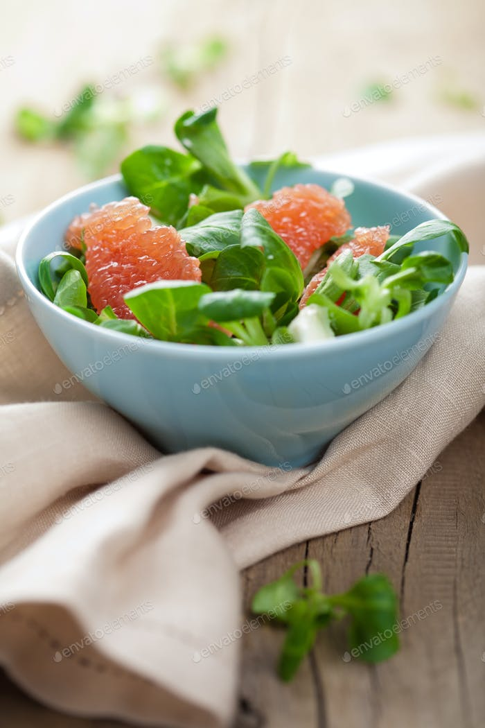 fresh salad with grapefruit