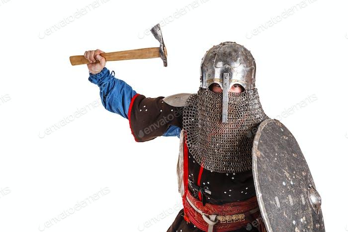 Mongolischer Krieger in Rüstung