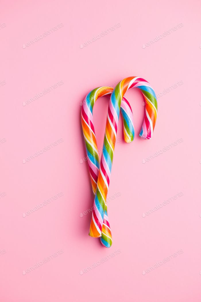 Colorful candy cane.