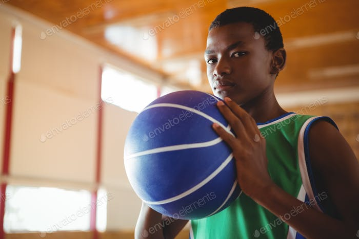 Portrait of male basketball player