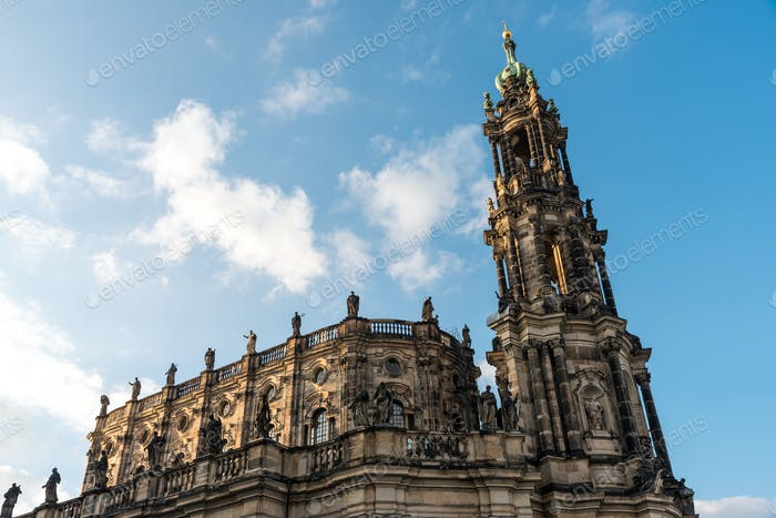 The baroque Hofkirche in Dresden