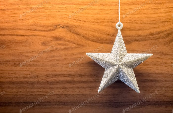 Glitzernder Stern Ornament