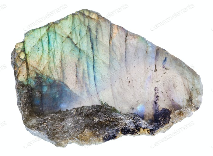 labrador (labradorite) stone with polished surface