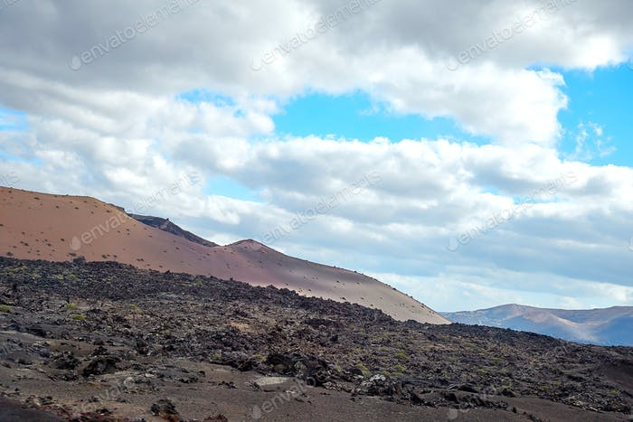 Volcanic landscape of Lanzarote