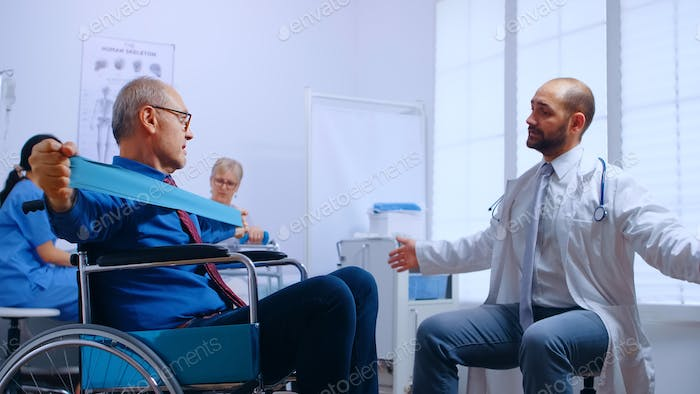 Recovery program for invalid senior persons