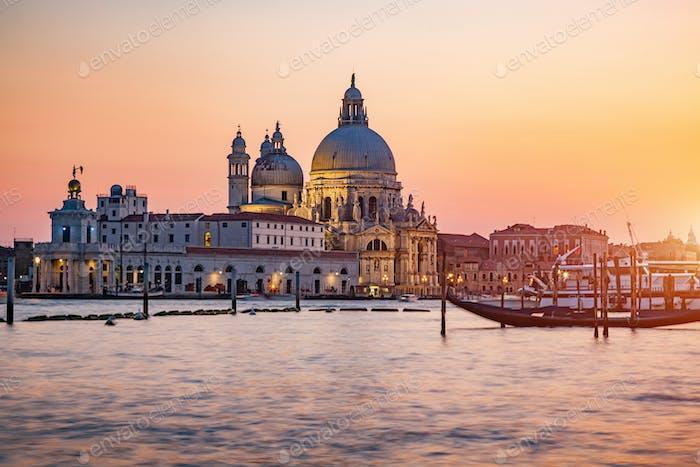 Venice, Italy, Santa Maria della Salute church.