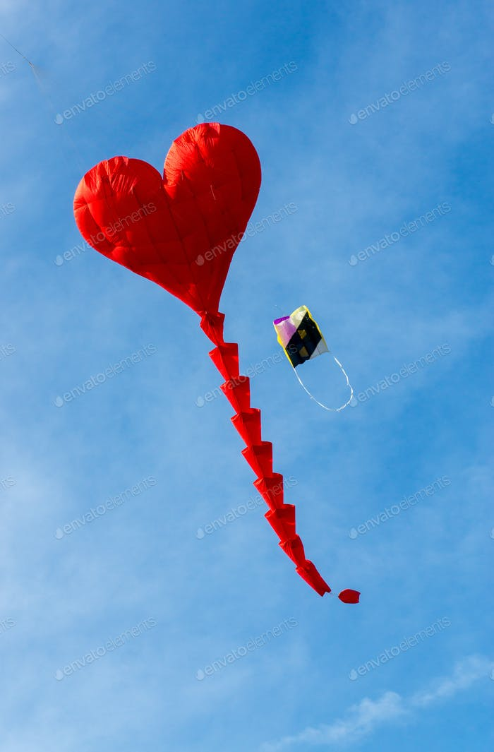 Heart shaped kite