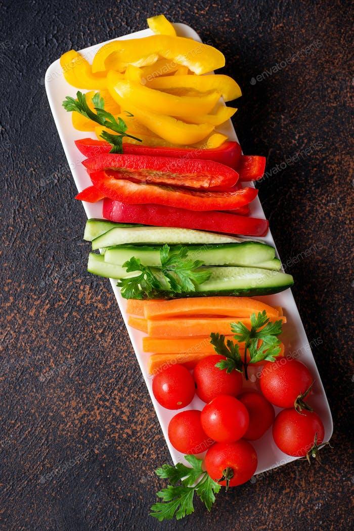 Frischgemüsestick Gesunde Vorspeisen