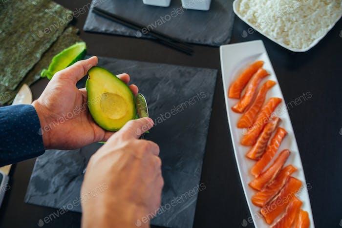 Avocado Being Prepared