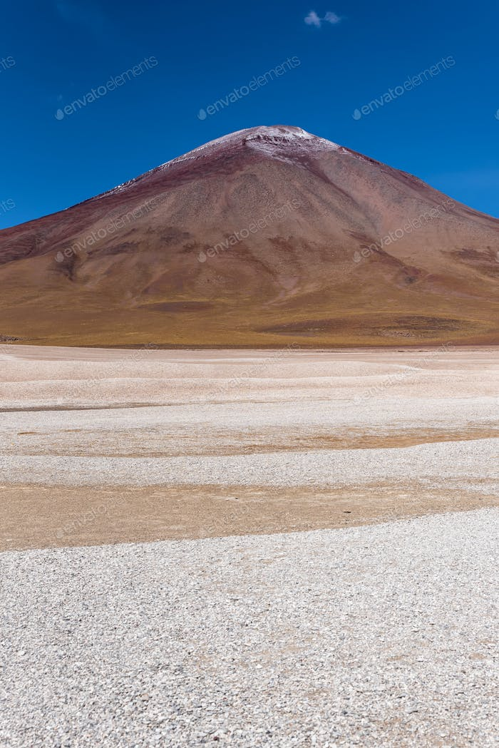 A volcano in the southwest of the the Andean Highlands
