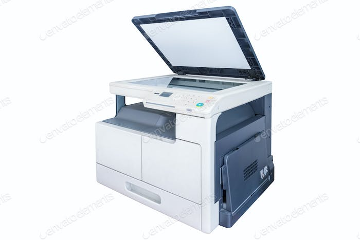 print copy machine isolated
