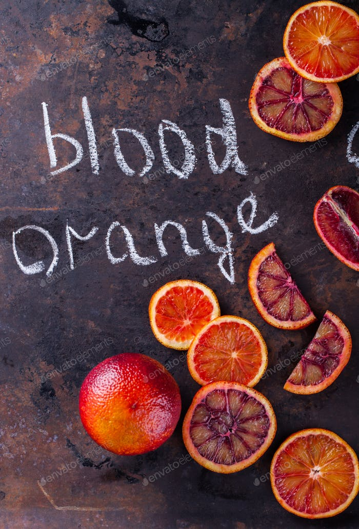 Sangre naranja.Cítricos. Alimentos saludables antivirales. Restauración de inmunidad.