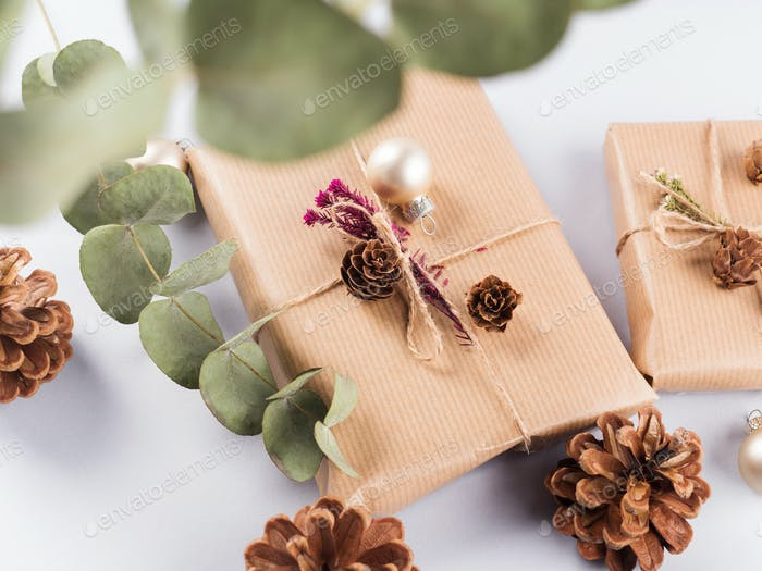 Festliche Weihnachtsgeschenke, Tannenzapfen