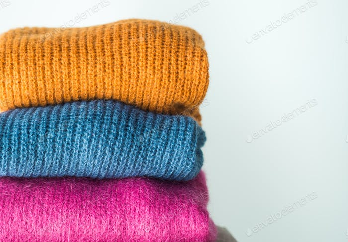 Cozy winter colorful woolen sweaters