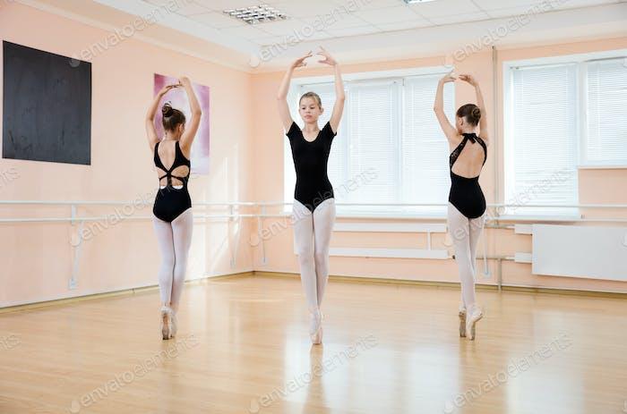 Dancers at ballet class