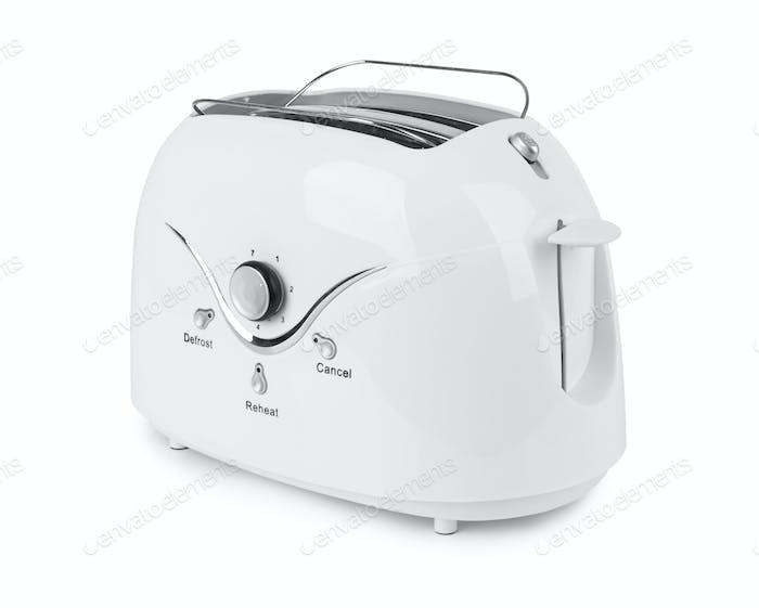 White toaster isolated