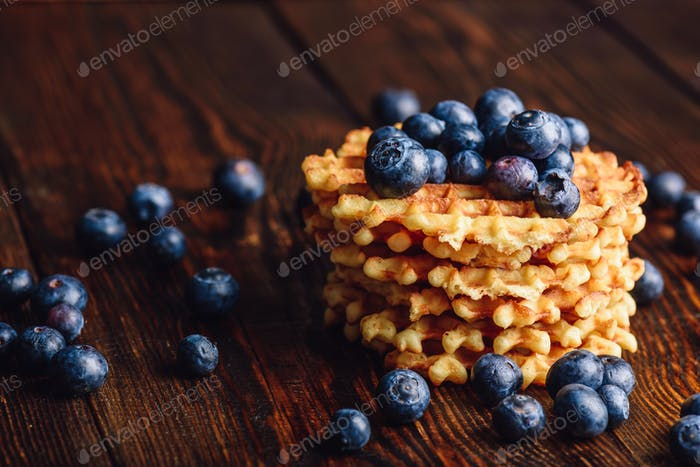 Belgian Waffles with Blueberry.