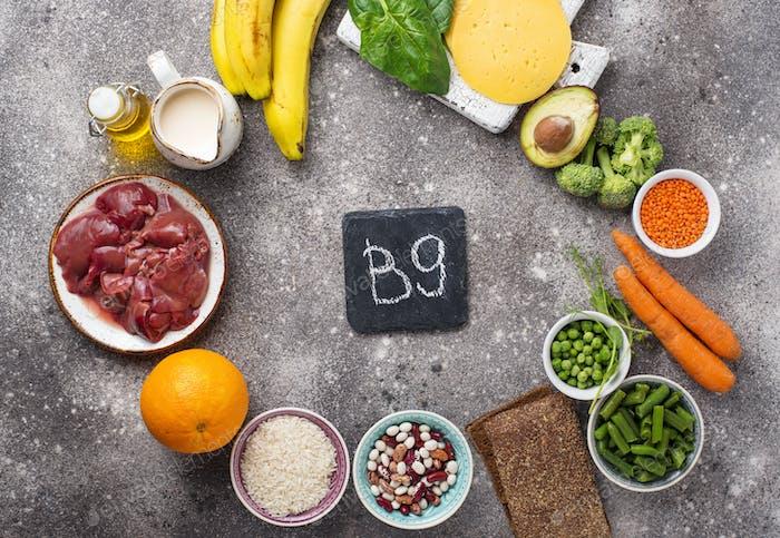 Natural sources of vitamin B9
