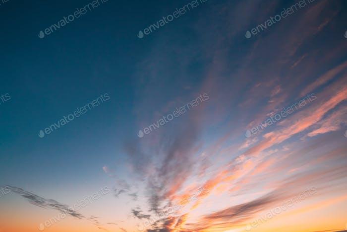 Natural Sunset Sunrise Heller Dramatisch Himmel Hintergrund