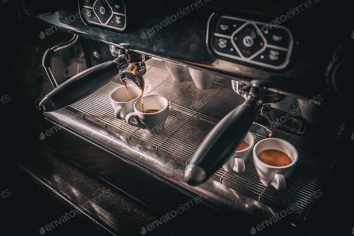 Professional coffee brewing