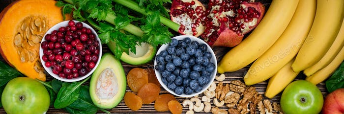 Background healthy food for health heart. Healthy food, diet and life