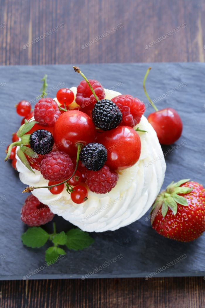 Traditional Summer Dessert Pavlova