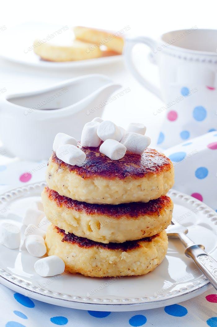 Syrniki ,Cottage cheese pancakes,