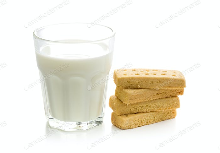 shortbread fingers with milk