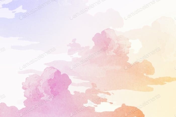 Colorful cloudy background design resource