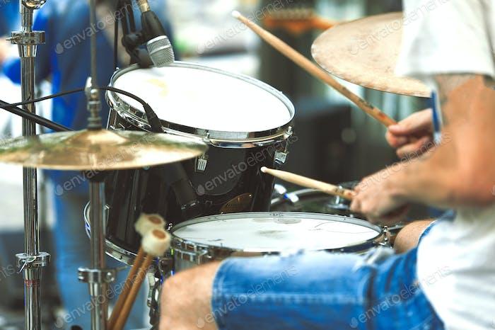Drummer detail