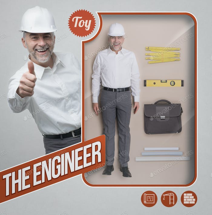 Der Ingenieur lebensechte Puppe