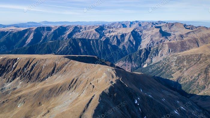 mountain landscape in Fagaras Mountains, Romania