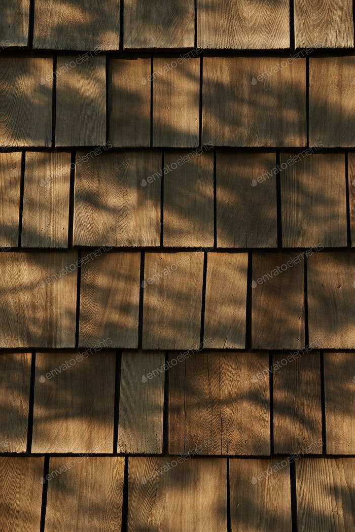 Background of wooden tile roof