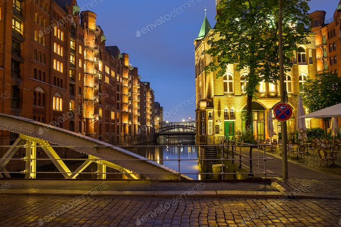 Part of the Speicherstadt, Hamburg