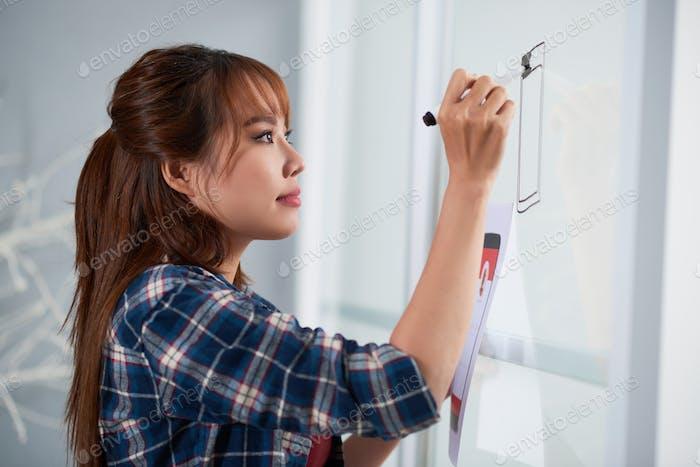 Drawing on Marker Board