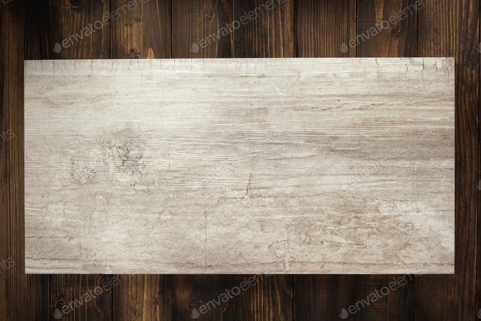 signboard at wooden background