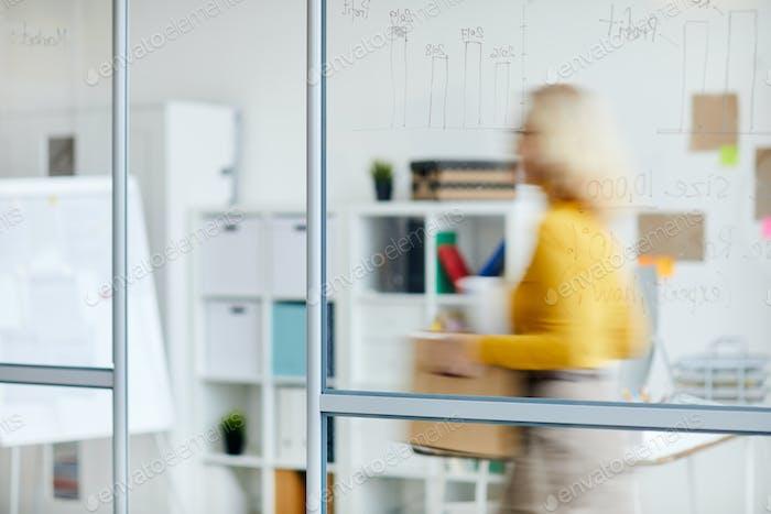 Unrecognizable Woman Losing Job