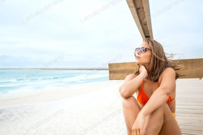 Girl portrait on the beach