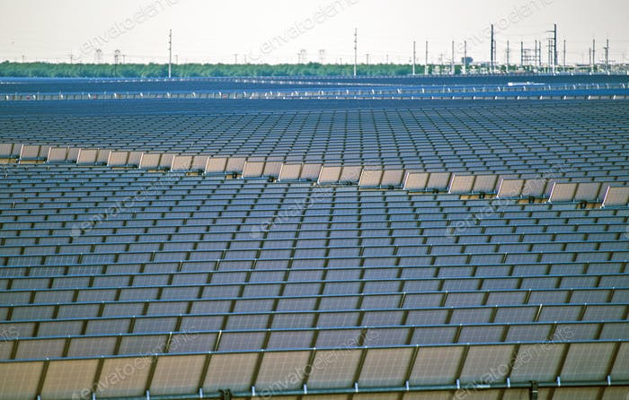 Huge Solar Power Plant