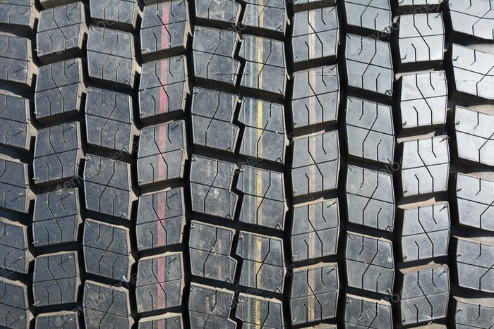 Truck tire texture background