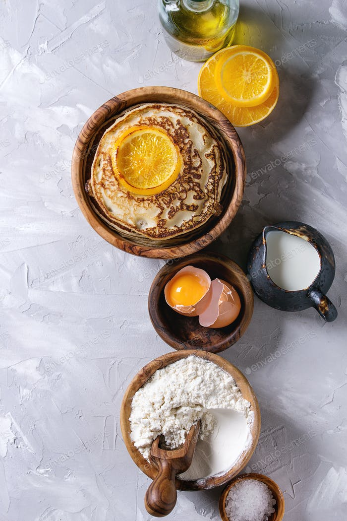 Pancakes with orange