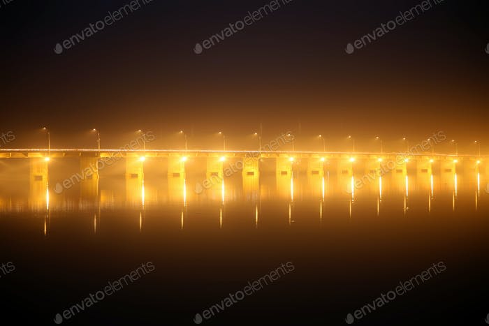 Pont des martyrs Bridge at night
