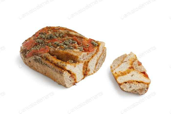 Fresh tomato Caper bread