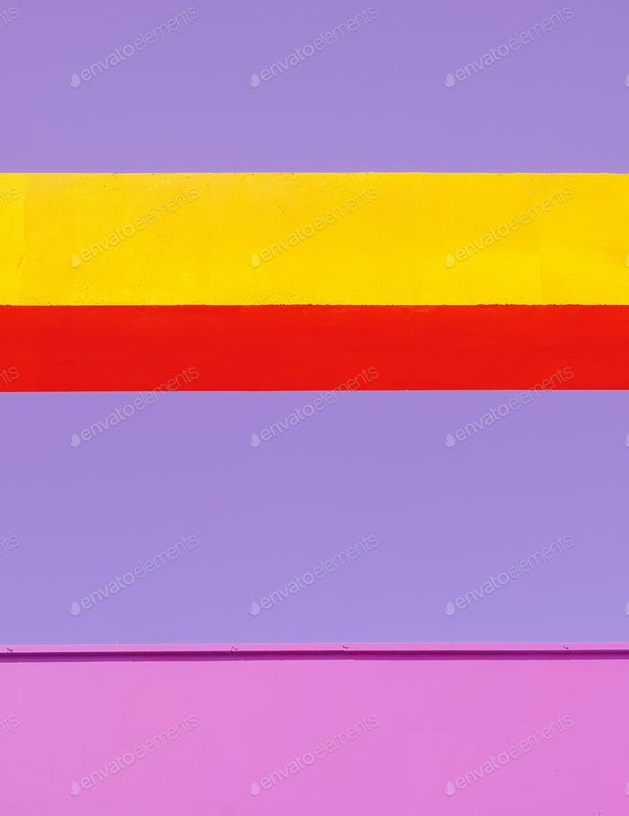 Stylish minimal wall wallpaper. Geometry in the city. Colorful design architecture