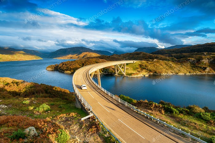 The Kylesku Bridge in Scotland